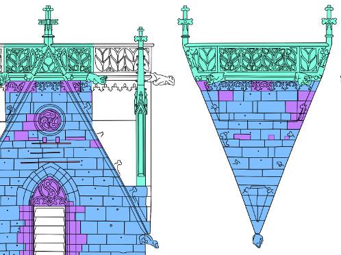 Ausschnitt Materialkartierung