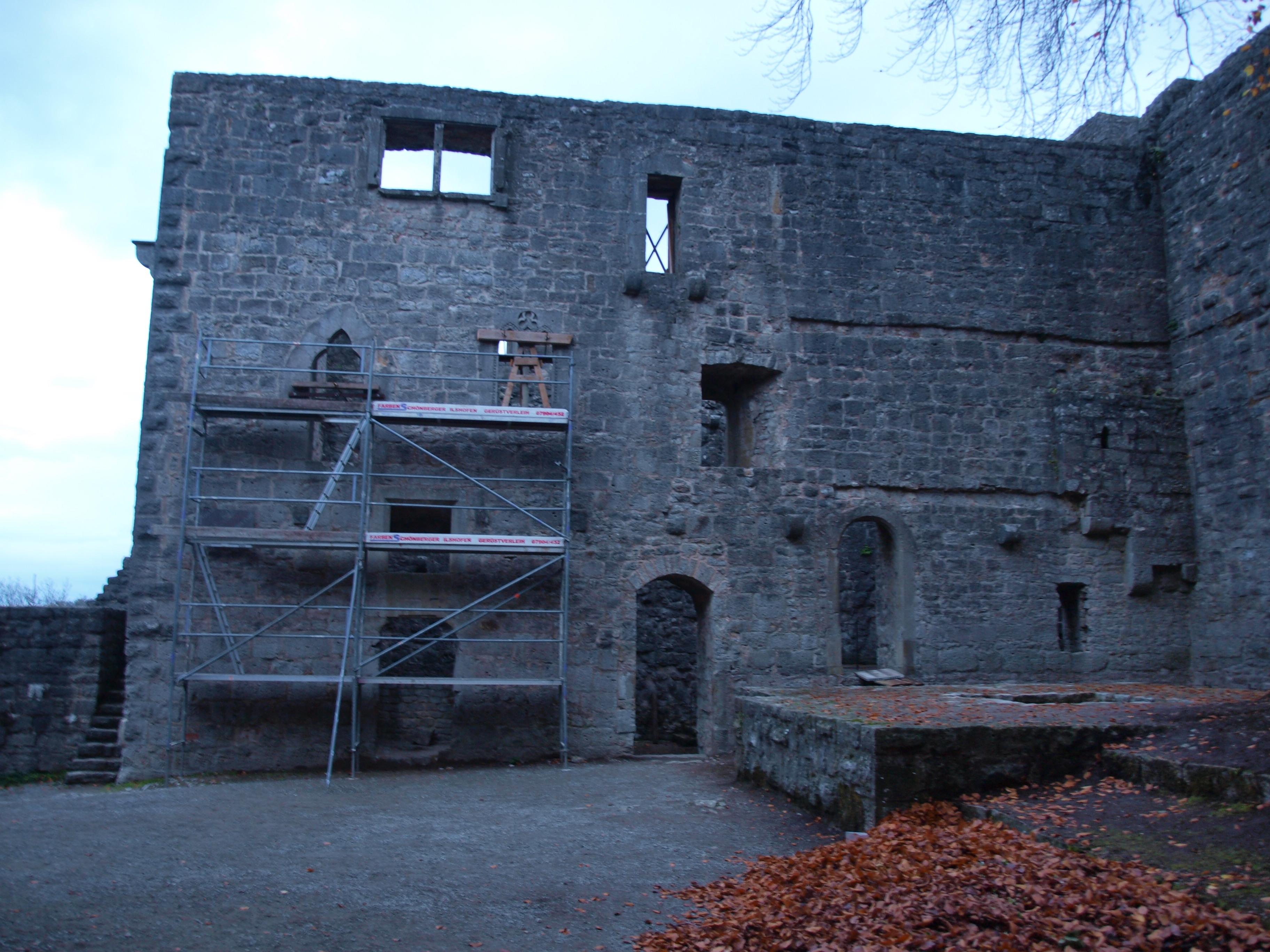 Ansicht ehem. Wohngebäude Burgruine