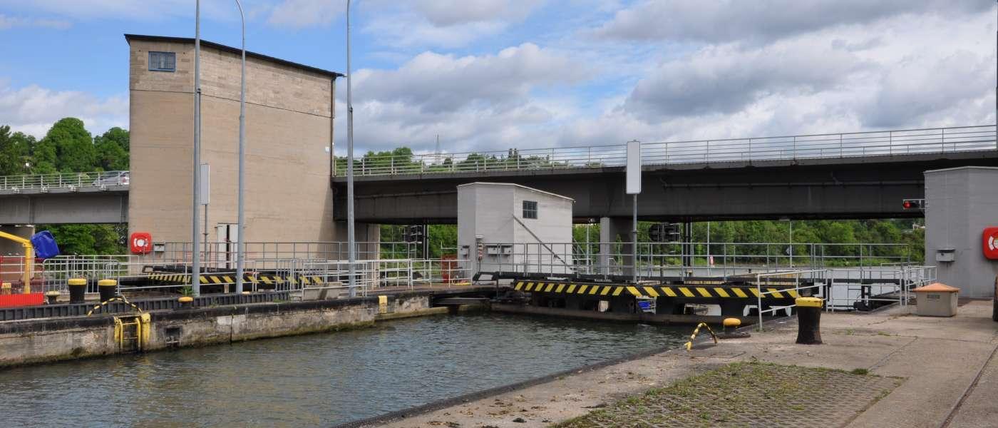Neckarkanal, SchleuseAldingen