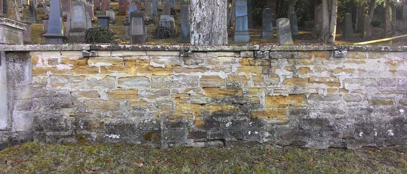 Hechingen, Friedhofsmauer JüdischerFriedhof