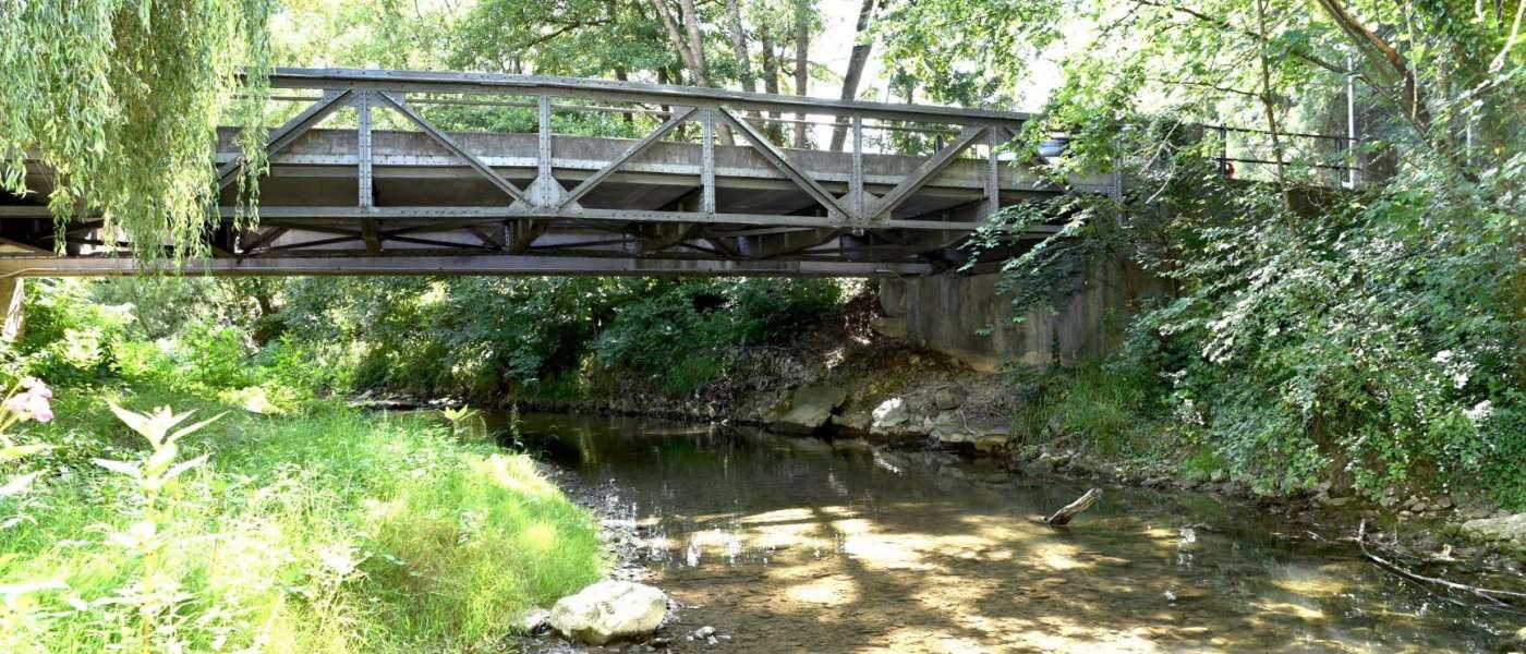Balingen-Frommern,Stahlfachwerkbrücke